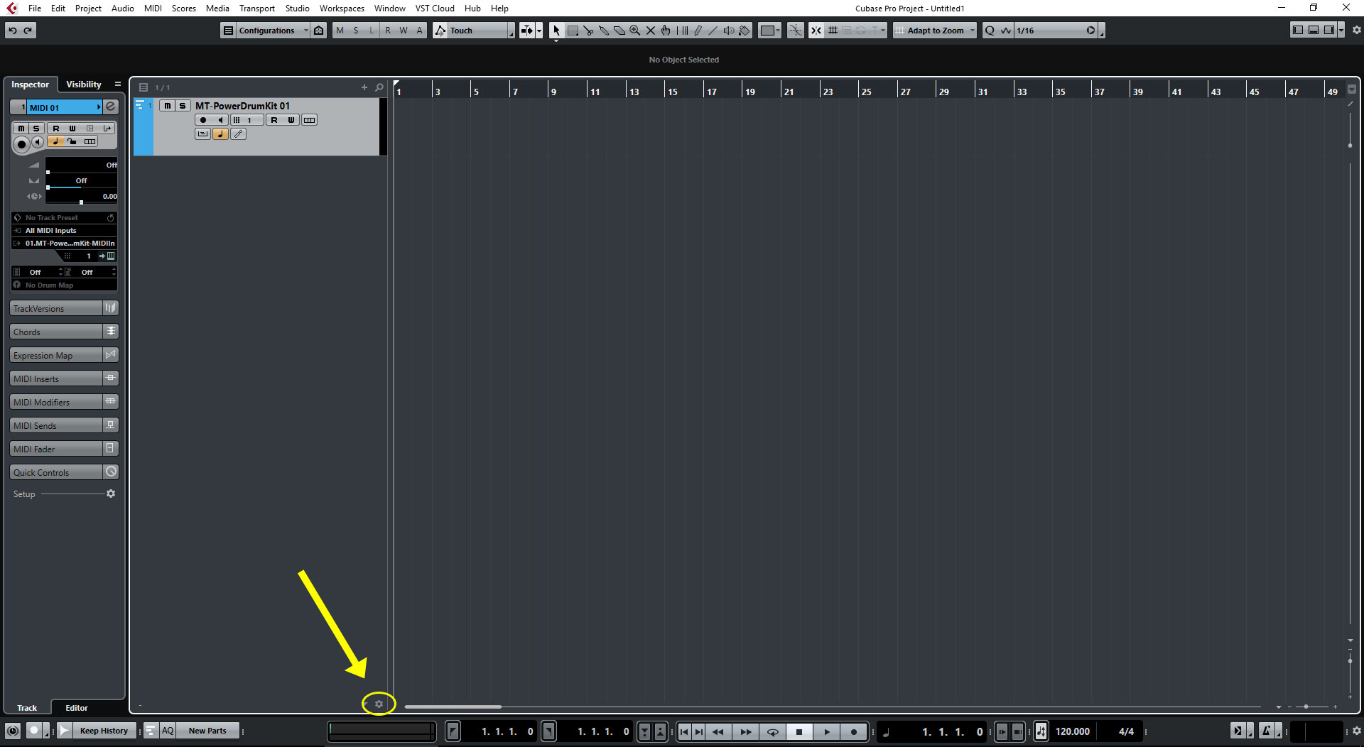 Cubase - How to load a Drum Map