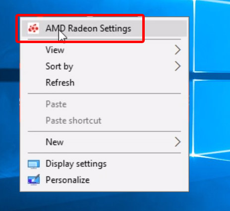 Windows - switching the AMD graphics chip between high performance