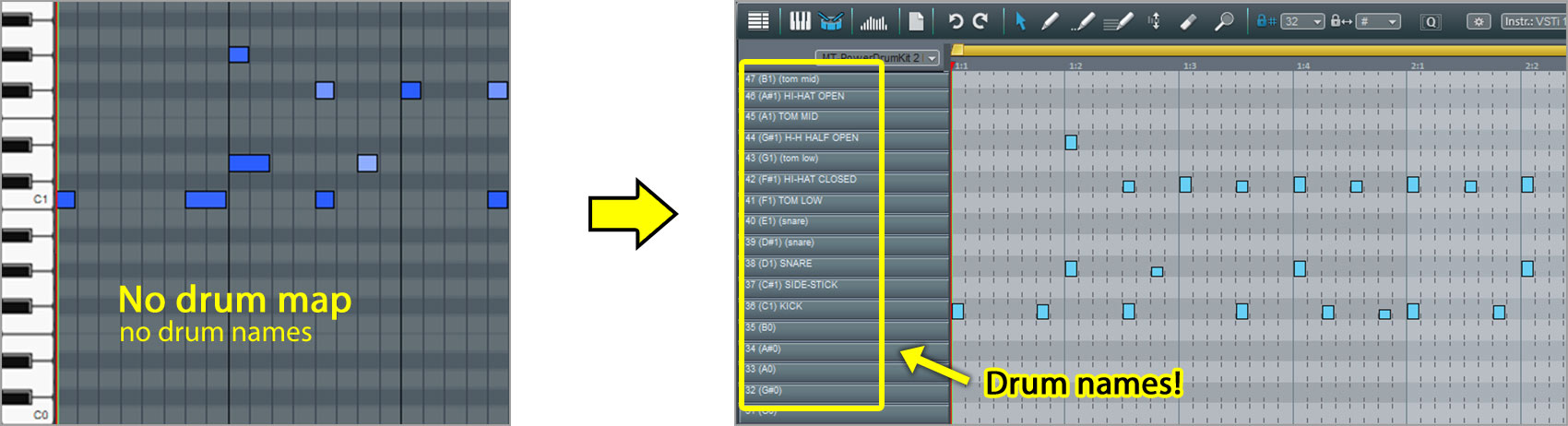 MAGIX Music Maker - How to load a Drum Map