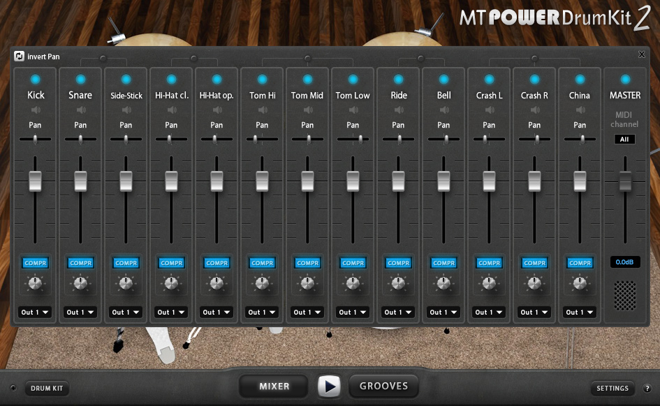 MT Power Drum Kit AU VST Drums Sampler Plugin Instrument FREE